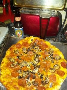 Breckenridge Pandora's Bock Pizza